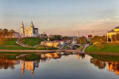 Mening van de stad van Vitebsk stock foto's