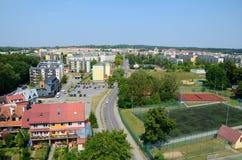 Mening van de stad (ycko van GiÅ ¼) Stock Fotografie