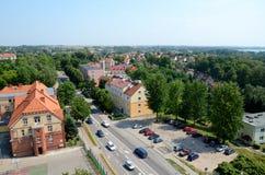 Mening van de stad (ycko van GiÅ ¼) Stock Foto's
