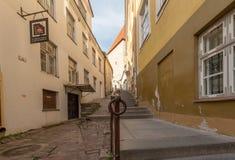 Mening van de de stads vroege ochtend van Estland Tallinn de oude royalty-vrije stock afbeeldingen
