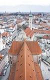 Mening van de stadscentrum van München Munchen, Duitsland royalty-vrije stock afbeelding
