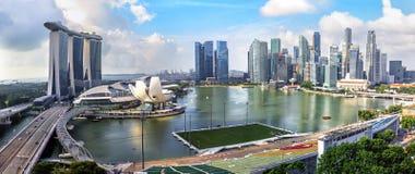 Mening van de stadshorizon van Singapore stock fotografie