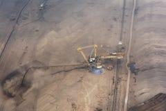 Mening van de steengroeve van de oppervlaktesteenkool Royalty-vrije Stock Foto