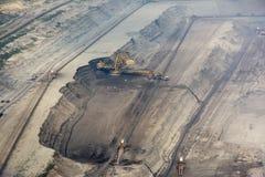 Mening van de steengroeve van de oppervlaktesteenkool Stock Foto