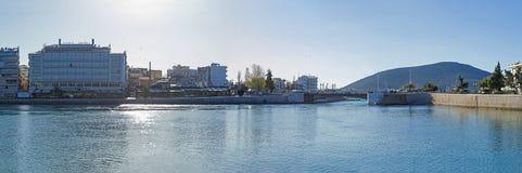 Mening van de strandboulevard van Chalcis `, Griekenland Stock Foto