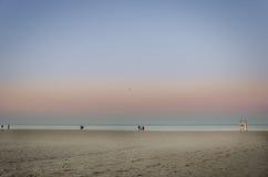 Mening van de stranden van Toronto met toeristen Royalty-vrije Stock Foto's