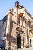 Mening van de straten van het schilderachtige dorp van Bosa Royalty-vrije Stock Fotografie