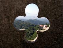 Mening van de Tempel van Tibidabo Royalty-vrije Stock Afbeeldingen