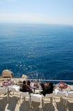 Mening van de Thyrreense Zee van het balkon van een dubrovnikbar i Royalty-vrije Stock Foto's