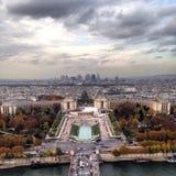 Mening van de toren van Eiffel Stock Afbeeldingen