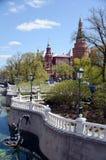 Mening van de Toren van het Hoekarsenaal van Moskou het Kremlin van Alexander Garden Royalty-vrije Stock Foto