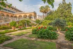 Mening van de tuin van het Prins` s Paleis, het Paleis van Andrea Doria ` s in Genoa Genova, Italië stock foto's