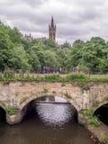 Mening van de Universiteit van Glasgow Stock Afbeeldingen