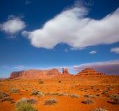 Mening van de V.S. 163 Toneelweg aan Monumentenvallei Utah Royalty-vrije Stock Afbeeldingen