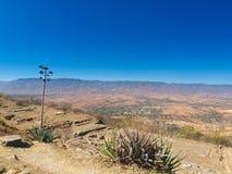 Mening van de Vallei van Oaxaca Royalty-vrije Stock Afbeeldingen