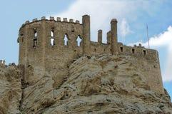 Mening van de vallei van de vesting van Nosap GÃ ¼ zelsudorp in oostelijk Turkije stock foto