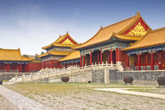 Mening van de Verboden Stad, China Stock Foto