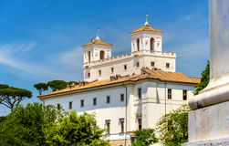 Mening van de Villa Medici in Rome stock fotografie