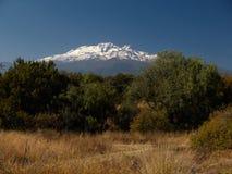 Mening van de Vulkaan Iztaccihuatl, Mexico Stock Foto's