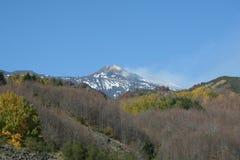Mening van de Vulkaan van Etna Stock Foto