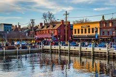 Mening van de waterkant in Annapolis, Maryland royalty-vrije stock afbeelding
