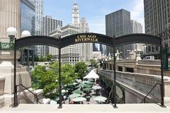 Mening van de Waterkant van Chicago Stock Foto
