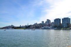 Mening van de waterkant van San Francisco Stock Fotografie