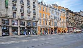 Mening van de weg in Boedapest de stad in Royalty-vrije Stock Afbeelding