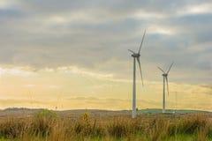 Mening van de windturbines in Barna, Co Galway Stock Afbeelding