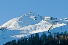 Mening van de winter de Oostenrijkse Alpen Stock Foto