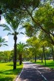 Mening van de zomerpark Yarkon Royalty-vrije Stock Afbeeldingen