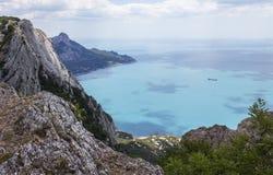 Mening van de Zwarte Zee Royalty-vrije Stock Foto's