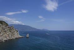 Mening van de Zwarte Zee Stock Fotografie