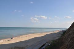 Mening van de Zwarte Zee In het middagweekend in de zonnige dag Stock Fotografie