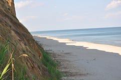 Mening van de Zwarte Zee In het middagweekend in de zonnige dag Royalty-vrije Stock Afbeelding