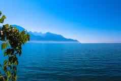 Mening van de Zwitserse Alpen royalty-vrije stock fotografie