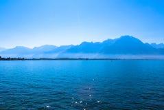 Mening van de Zwitserse Alpen royalty-vrije stock foto