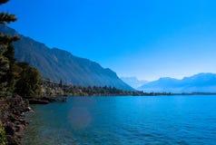 Mening van de Zwitserse Alpen royalty-vrije stock afbeelding