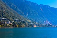 Mening van de Zwitserse Alpen stock foto's