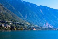 Mening van de Zwitserse Alpen royalty-vrije stock foto's