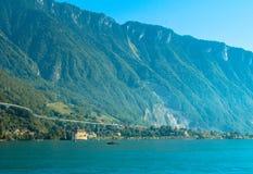 Mening van de Zwitserse Alpen stock fotografie
