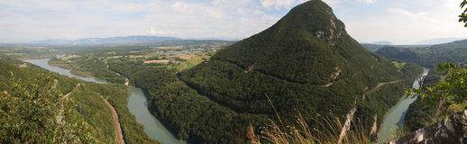 Mening van de Zwitserse bergen Royalty-vrije Stock Afbeelding