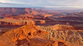Mening van Deadhorse-het Park van de Puntstaat in Utah Royalty-vrije Stock Foto's