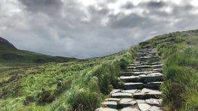 Mening van Diamon-Heuvel, Ierland stock video