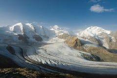 Mening van Diavolezza, Engadin, Zwitserland royalty-vrije stock afbeeldingen