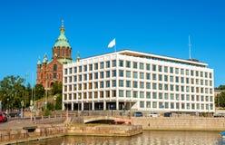 Mening van dijk in Helsinki stock foto's