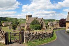 Mening van dorp Cotswold van Snowshill royalty-vrije stock fotografie