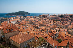 Mening van Dubrovnik Stock Foto