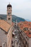 Mening van Dubrovnik Royalty-vrije Stock Foto's