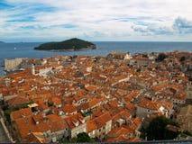 Mening van Dubrovnik Royalty-vrije Stock Foto